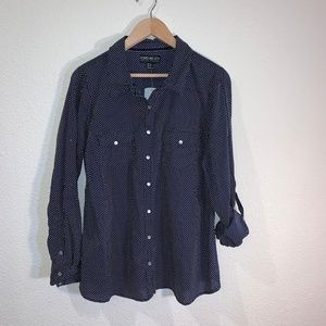 FOREVER 21 PLUS SIZE XL SNAP BUTTON BLOUSE